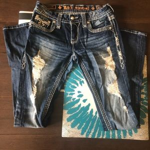 Rock Revival Distressed Jeans Size 27